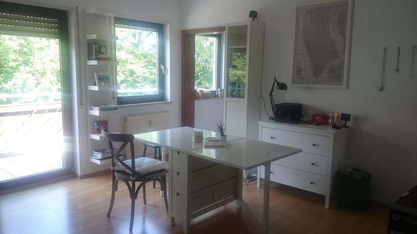 Helle Ein-Zimmer-Wohnung in Seenähe - Friedrichshafen - Selveierleilighet