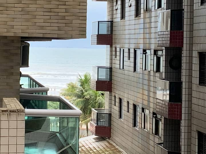 Cidade Ocian - Praia Grande - Apto Pé na Areia