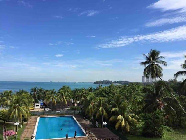 🏖Comfy Beachfront View🏝@ Seri Bulan Port Dickson
