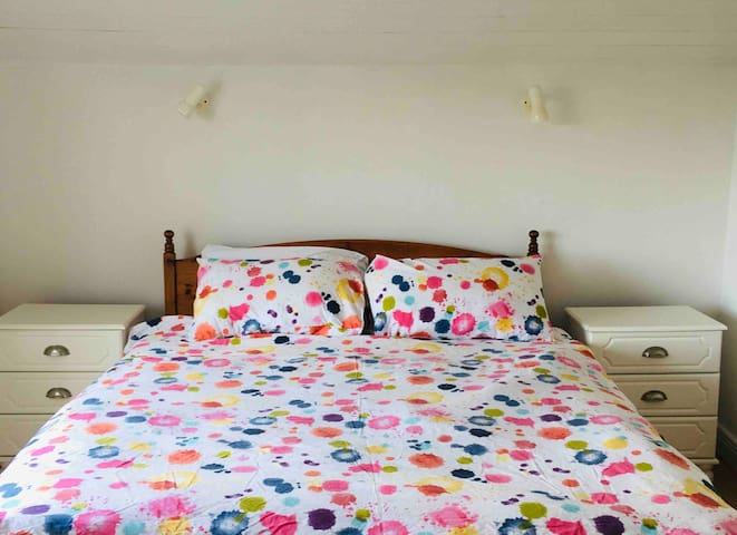 Double Bed with bright sea-views