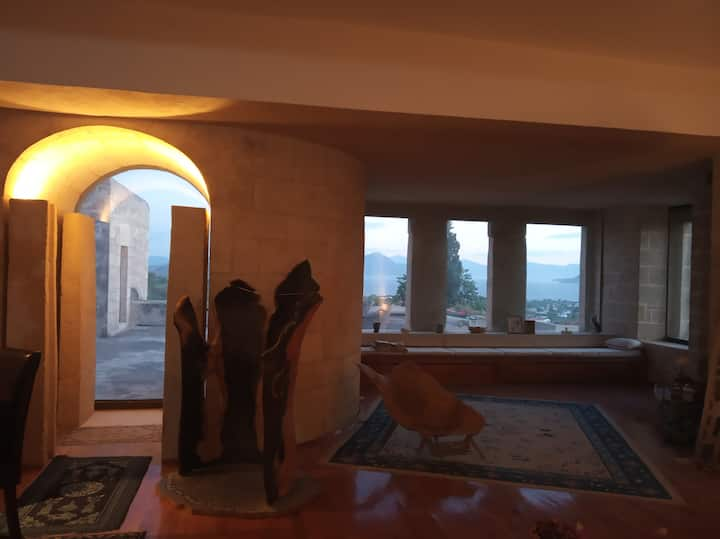 Artistic house of Aegina with panoramic view