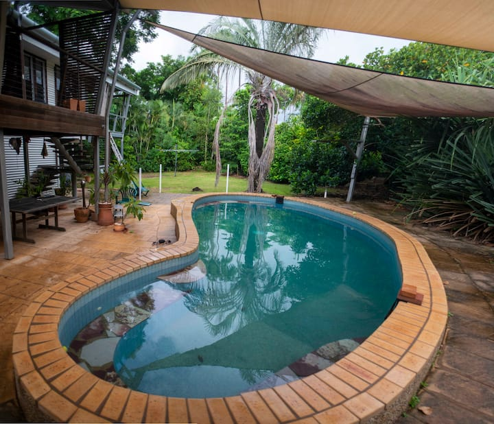 Self-contained unit in beautiful tropical home