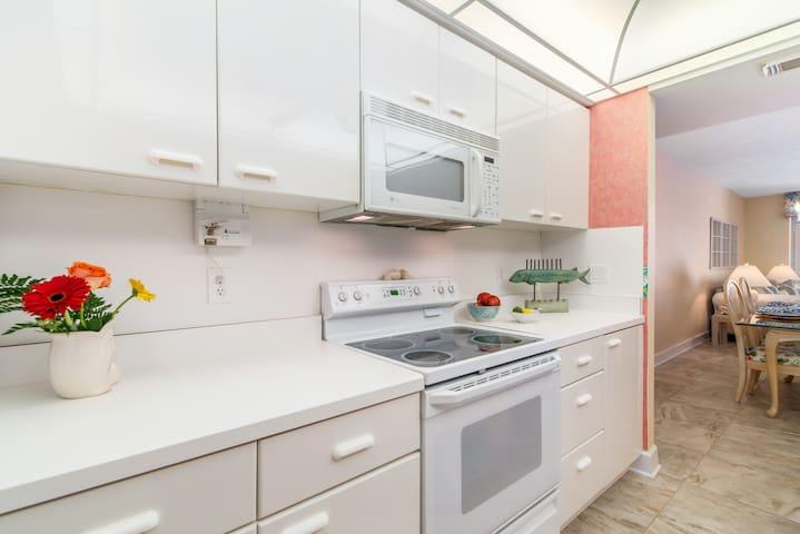 White Kitchen Open Concept Ocean views