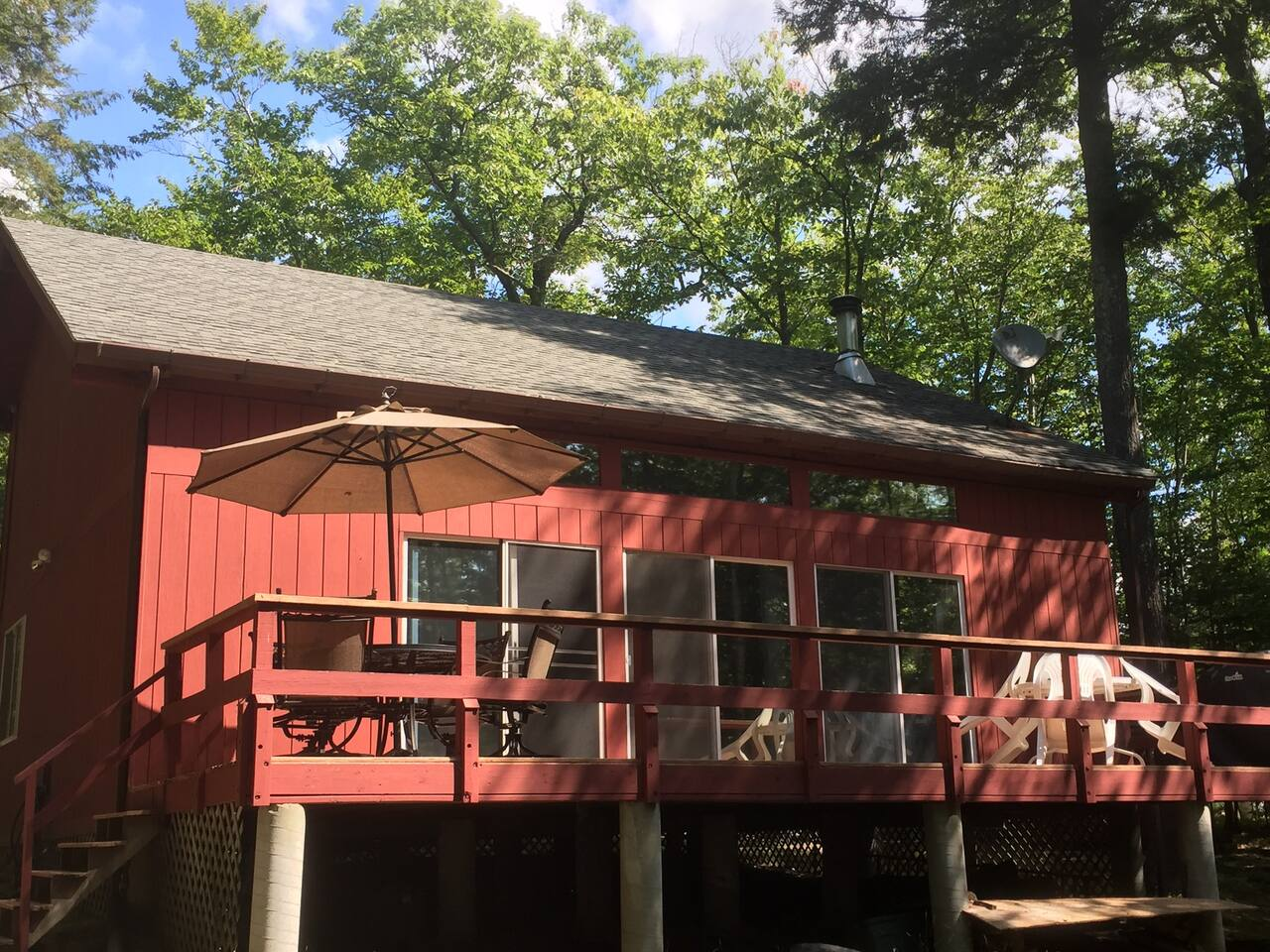 Huge back porch! Great for sun and family fun!