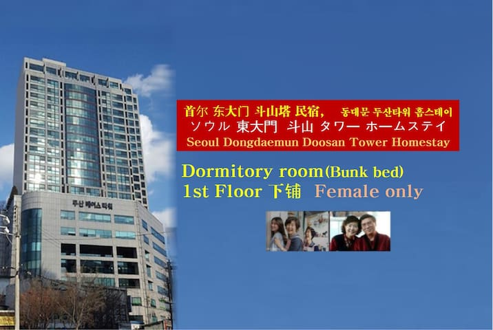 (A Single Bed in Dormitory) Doosan Tower Homestay - Dongdaemun