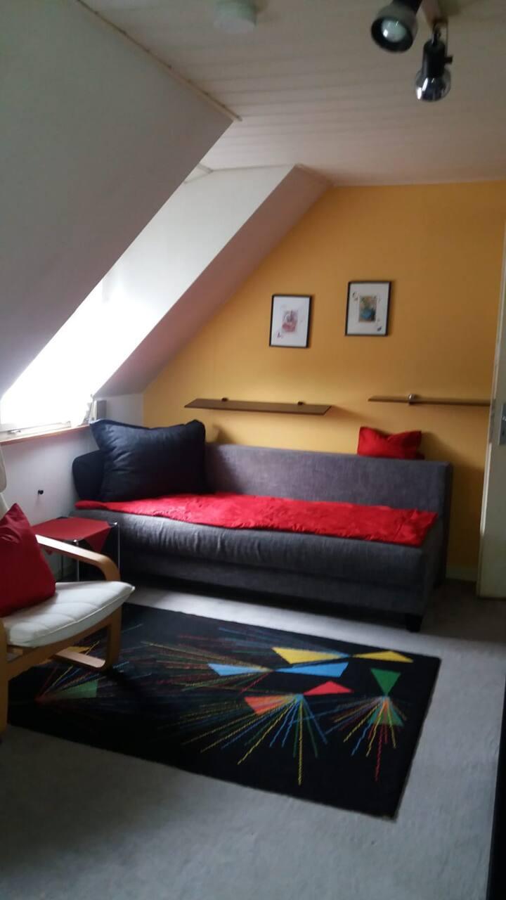 Hübsche kleine Dach-FeWo in Lö-Haagen.
