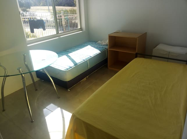 room with 2 single bed in beautiful nice new house
