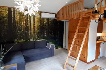Cozy guest house near airport with lakeside sauna