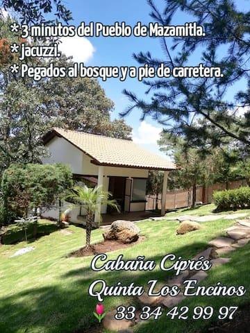 Quinta Los Encinos, Cabaña Ciprés. Mazamitla.
