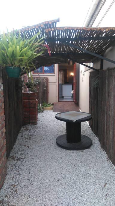 Private barbeque area