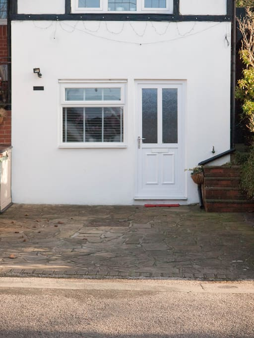 Your own private entrance and driveway