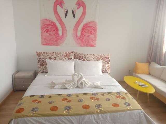 财富广场精品公寓 北欧风格大床房