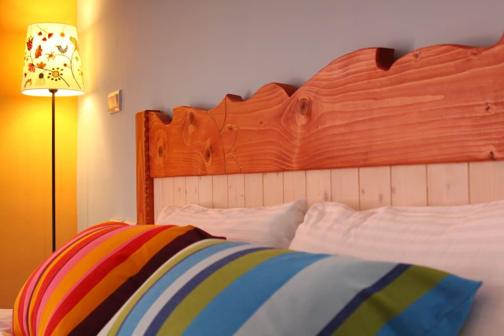 宜蘭米修B&B-瑞德溫雙人房~舒適的Queen Size獨立筒雙人加大床讓您一夜好眠