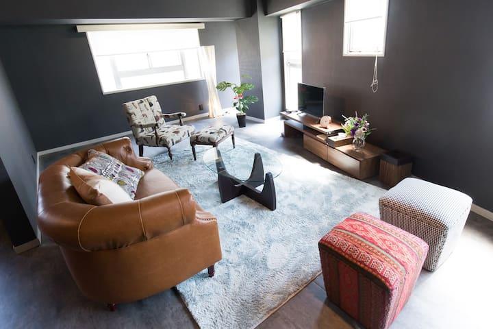 Luxury Shibuya 102㎡ Maisonnette Apt TV+Int+WiFi - Shibuya-ku - Kondominium