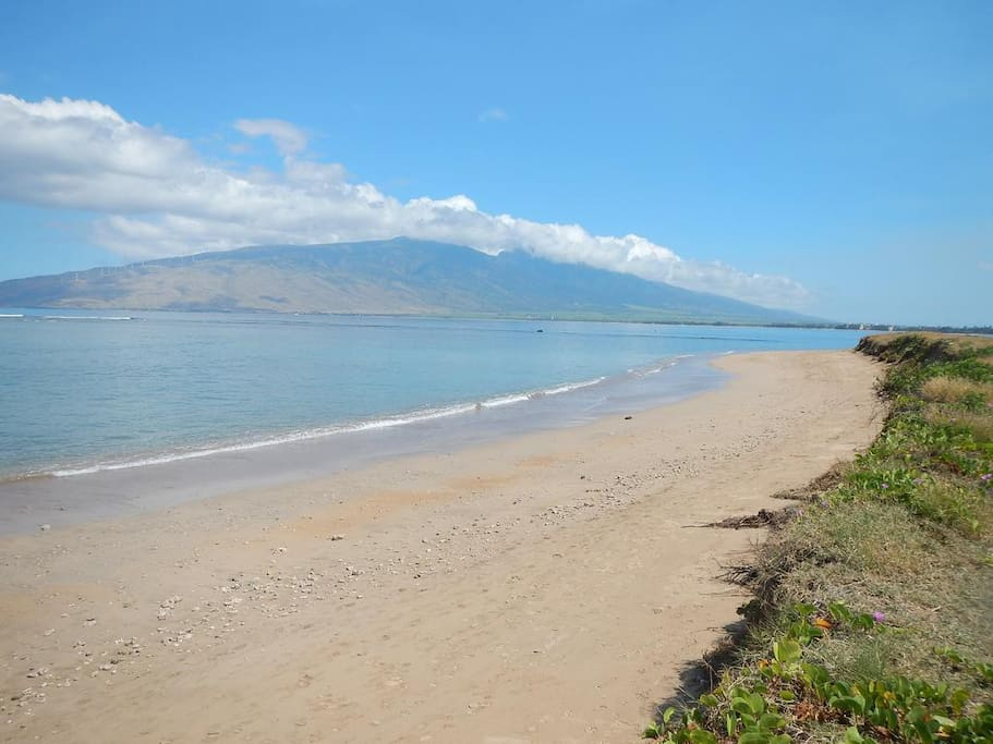 Beach & View of Lanai Island