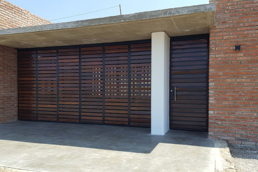 Beautiful modern style doors and very secure.