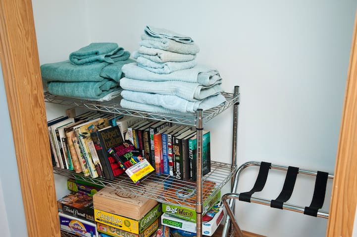 Towels and Books and Game, oh my!