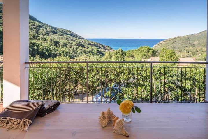 Appartamento Nisportino Isola d'Elba vista mare - Nisporto