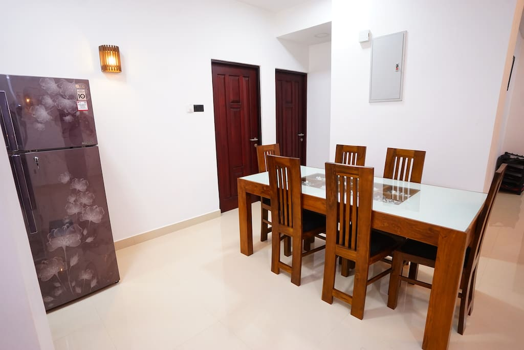 Dinning table with Fridge