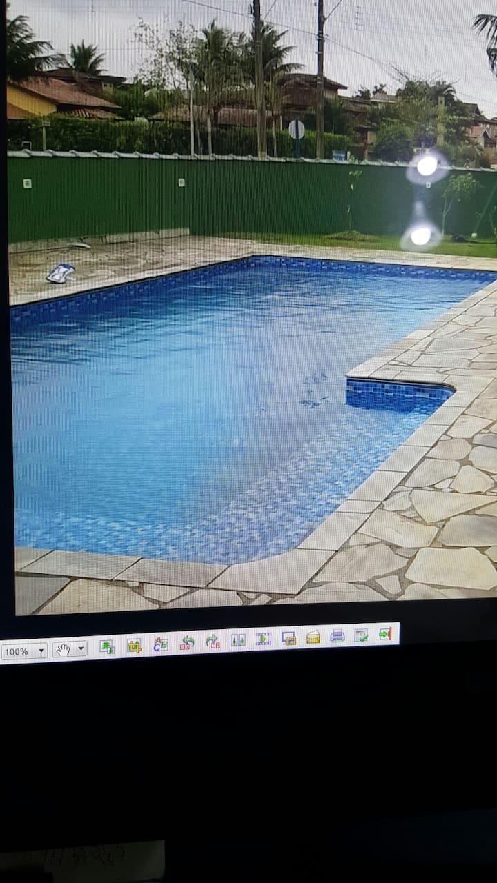 CASA na praia, piscina exclusiva. Cond. fechado