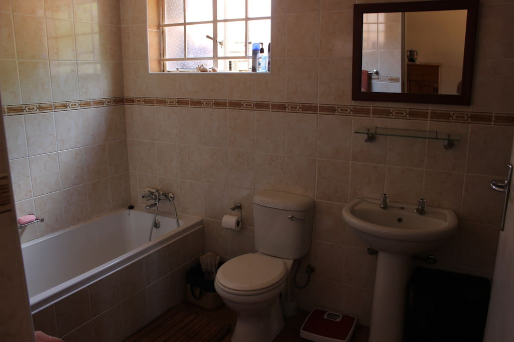 En-suite bath and shower