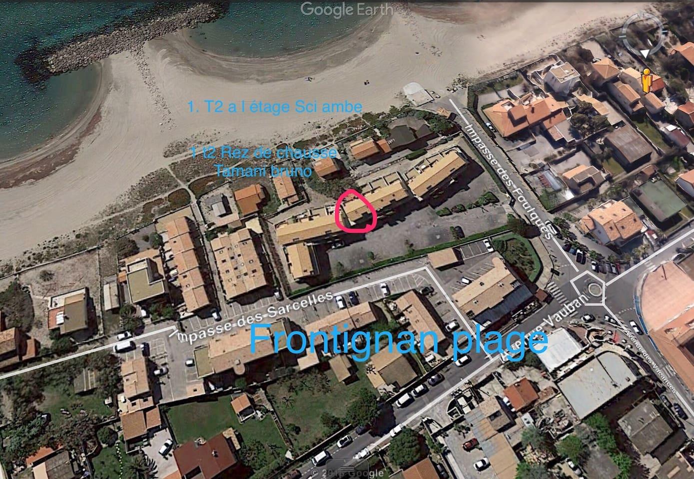 T2 résidence la plage 1er etage