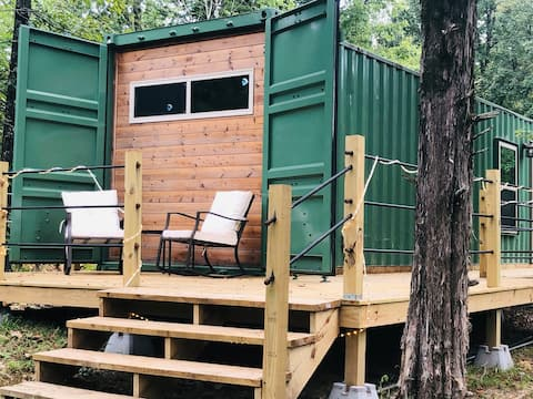 Rustic Cove Container Cabin ~ tiny house ~