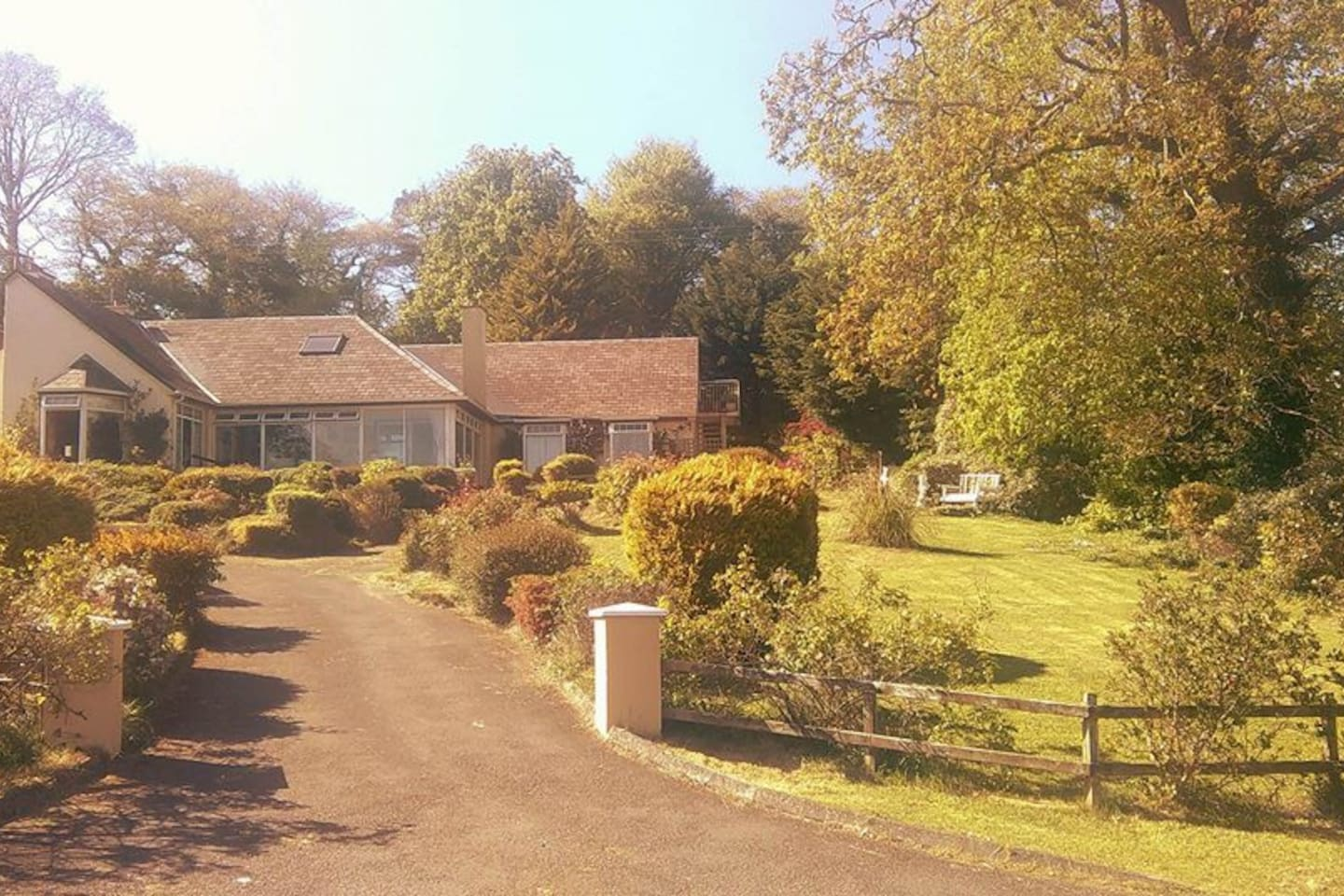 Our peaceful family home which is overlooking a private bay, spacious gardens and is walking distance from Donegal Town and a secluded beach and coastline.