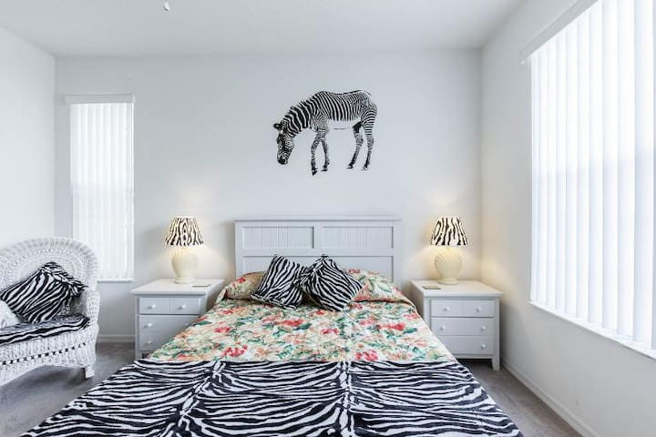 The Downstairs Master Bedroom suite featuring Queen size Simmons Beautyrest Plush Pillowtop mattress... zzz