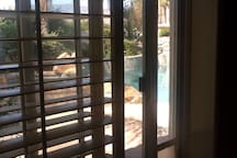 Pool and Spa right outside master suite