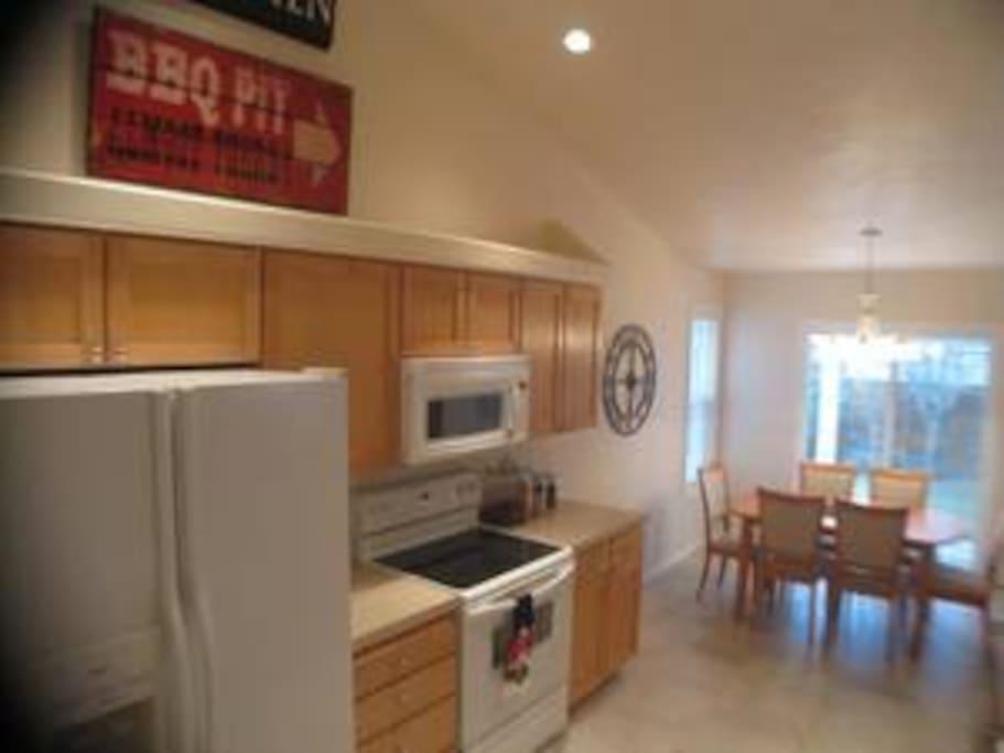 Kitchen with White on White Appliances