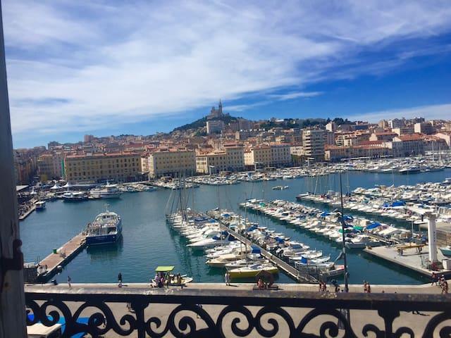 Appartement55m²Tout Confort vue magique Vieux Port - Marseille - Apartemen