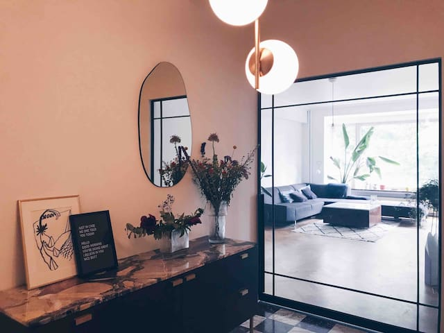 Room in mid century apartment