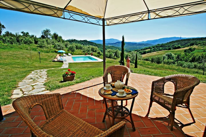 Picturesque Tuscan villa in the hills near Siena - Belforte - Dům