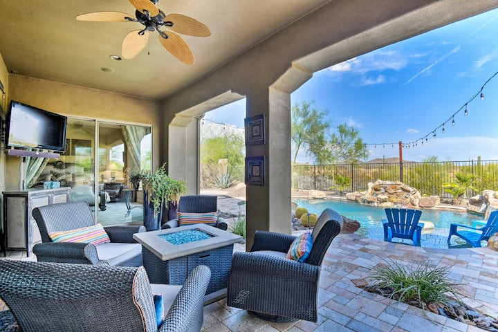 Luxury Phoenix Resort Home w/ Pool, Patio & Casita