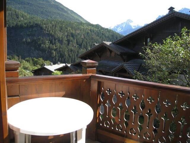 Appartement cosy et charmant avec vue sur le mont blanc