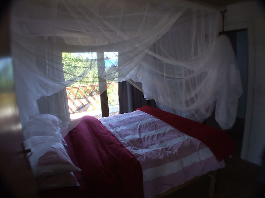 Bedroom 2 with Double Bed. Air Conditioned.