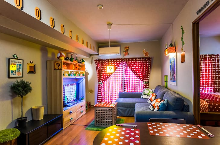 2BR+Living Room—Mario Theme—$4K Bed—Posh Area - Minato-ku - Apartamento
