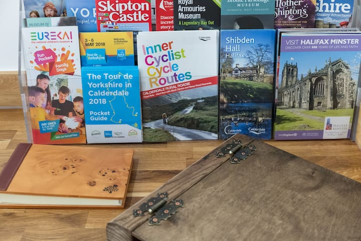 Range of flyers, guides, maps and leaflets of the local area.