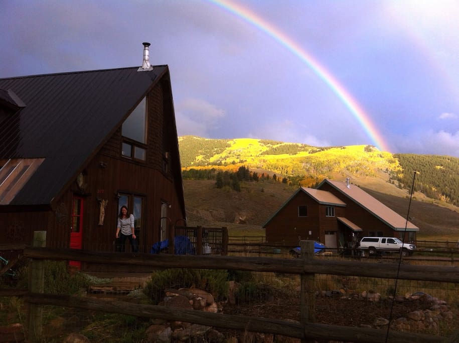 National Forest and rainbows behind our house!