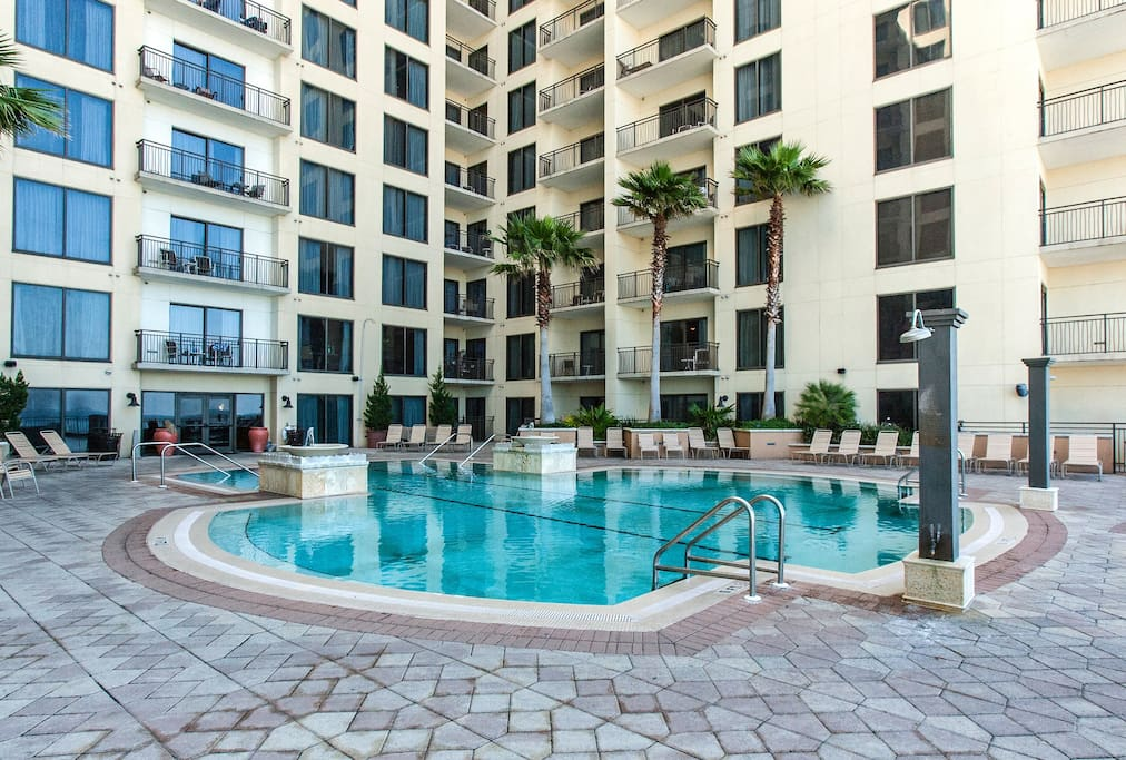 On-site amenities include a grand pool terrace with Gulf views and a whirlpool.