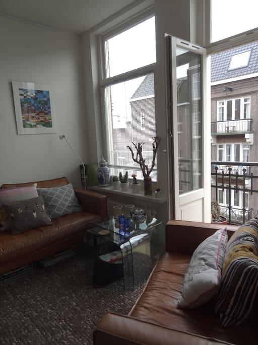 French balcony in living room