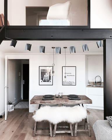 Magnifique appartement loft scandinave ethnique - Roubaix - Appartement