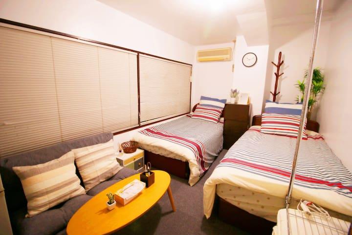 Walk distance to Tokyo Sta 401.Youth Hostel  KF401 - Chiyoda - Appartement