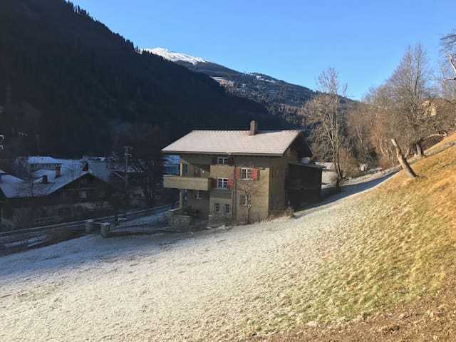 Idyllic 3-rooms apartment near Klosters (flat B) - Küblis - Apartamento