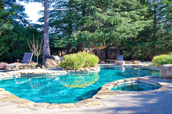 Charming Sonoma home with lovely pool and yard.