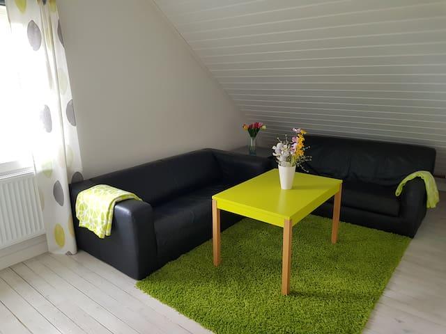 Allrum. Här kan ni även få plats med en gästsäng a 80 cm, om man inte vill sova i sovalkoven.
