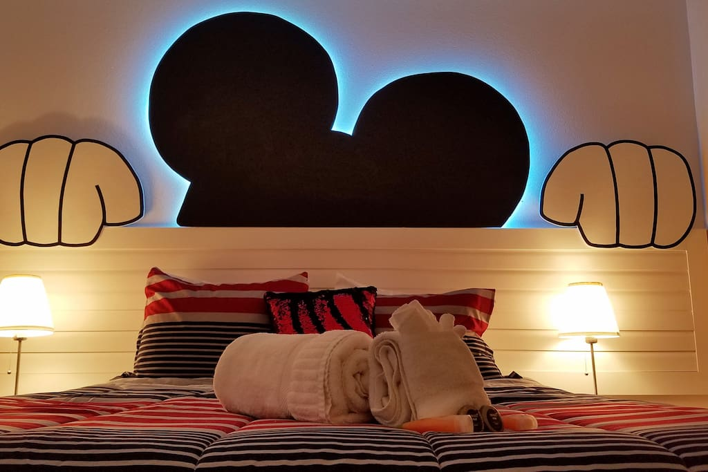Super Cozy Room with Mickey Mouse Theme.