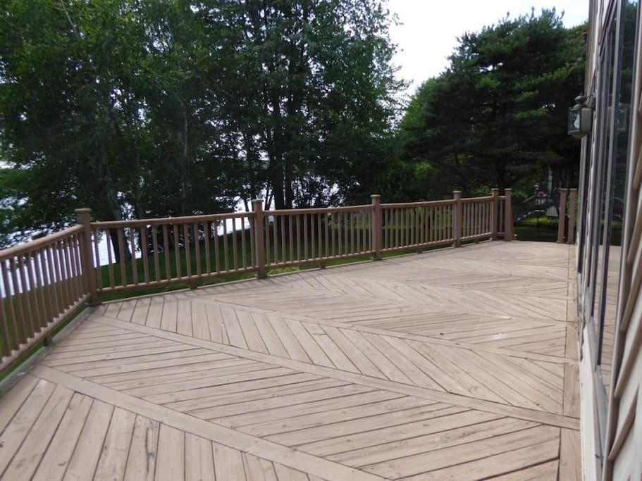 Large deck.