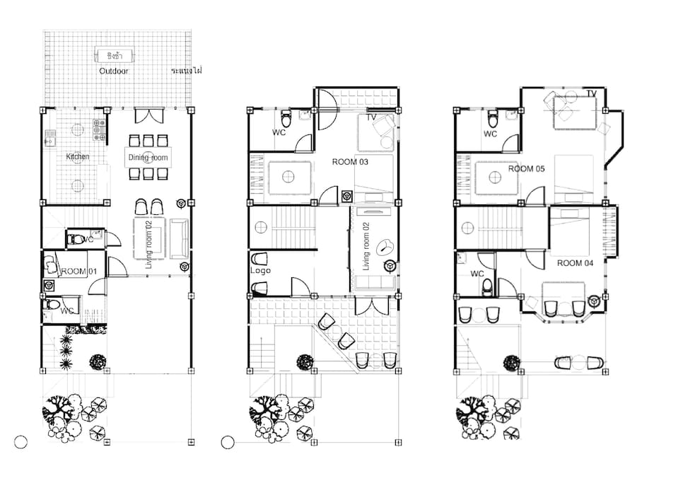 Our house floor plan (Rooftop on 4th floor)